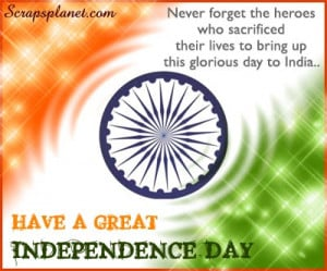 Independence Day Quotes/ Thoughts Wallpapers And SMS - 15-08