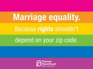 Marriage equality!