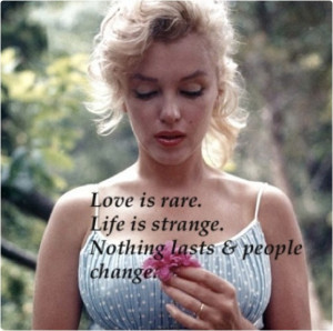 Thoughtful Love Quote Marilyn Monroe