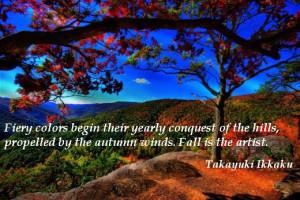... propelled by the autumn winds. Fall is the artist. (Takayuki Ikkaku