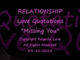 Romantic Love Quotations Video: Missing Someone Special