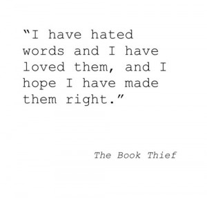 ... image include: the book thief, quote, markus zusak, quotes and words