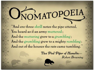 Tools: Onomatopoeia English Literature Poster featuring a quote ...