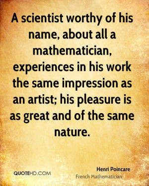 Henri Poincare Nature Quotes
