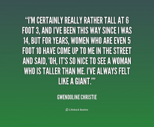 Quotes About Being a Tall Woman