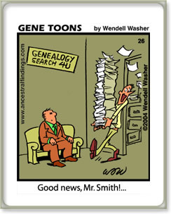 Below is a collection of assorted genealogy humor. Enjoy!