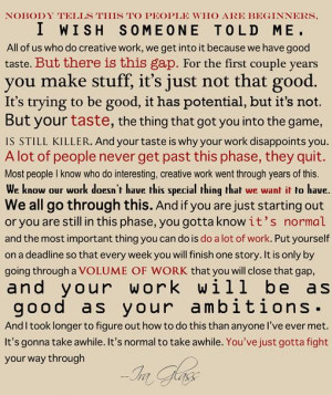 Ira Glass quote on the creative process