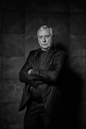 Peter Greenaway Image has been converted to black and white This