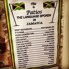 patois translation jamaica more jamaica outs dreams ben jamaican food ...