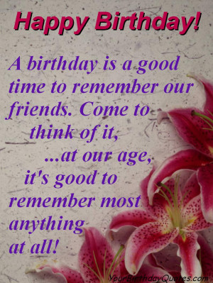 birthday quotes funny remember friends wild child happy birthday ...