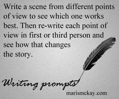 Write a scene from different points of view to see which one works ...