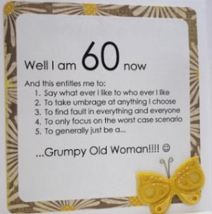 Funny 60th Birthday Card , with Poem sarcasm about someone's ageing ...