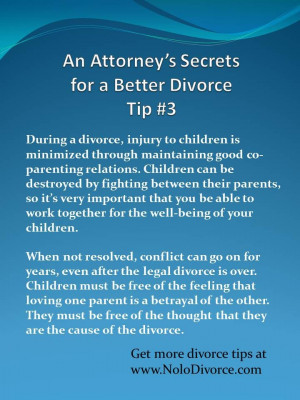 This tip comes from divorce expert attorney Ed Sherman's award-winning ...