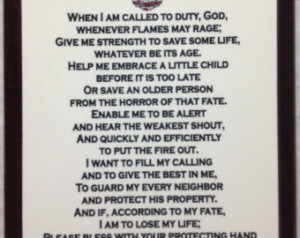 Firefighter Prayer Plaque
