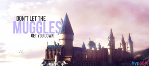 They are the Muggles. You are not a Muggle. They can't touch you ...