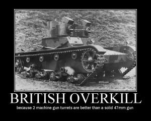 British Overkill - Military humor