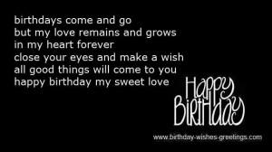 late romantic birthday greetings friend