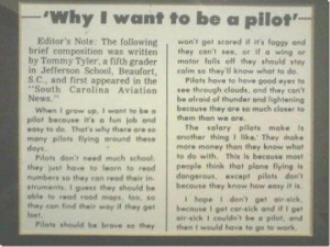 Why I want to be a pilot