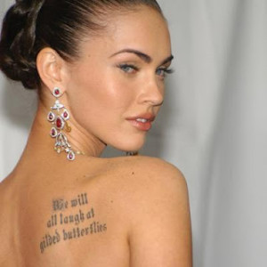 megan fox tattoo shakespeare quote