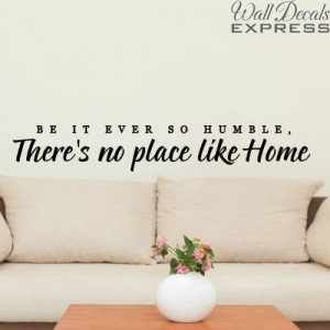 living room wall decal theres no place like home