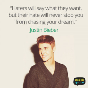 Justin Bieber Quote (About dream, life) | We Heart It