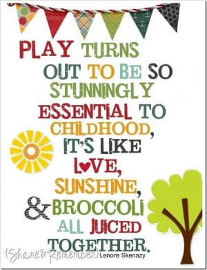 The importance of play on childhood