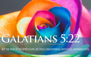 Bible Verses About Love Galatians 5-22 Colorful Flower Christian HD ...