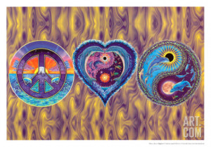 Peace, Love & Happiness Poster