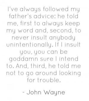 John wayne, quotes, sayings, great advice