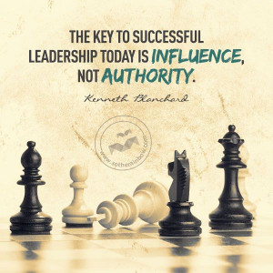 The key to successful leadership...