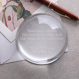 Our Inspirational Quotes Teacher Crystal Paperweight is an ideal ...