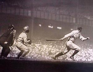 Earle Combs hitting @ Yankee Stadium September 9, 1928