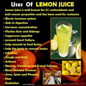 Health Benefits of lemon juice-Antioxidants-Anti cancer-Radiation