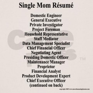 Single Mom Resume