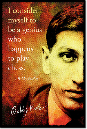 ... BOBBY FISCHER SIGNED ART PHOTO PRINT AUTOGRAPH POSTER GIFT CHESS QUOTE
