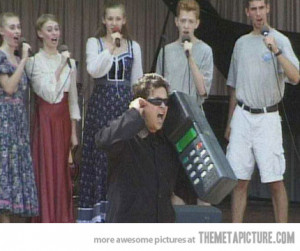 Funny photos funny big old cell phone