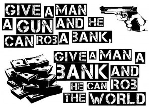 funny banks world economy quote