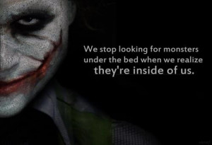 joker, monster, quote, text