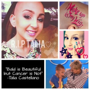 Talia castellano, a beautiful young lady has ended her journey today ...