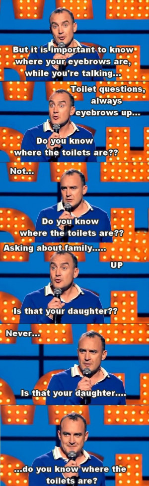 funny comedian quotes eyebrows