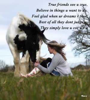 With Girl And Horse Also A Friendship Quote Hd Wallpapers For Desktop
