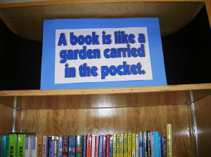 quote signs for library shelves