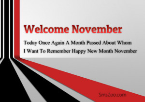 Welcome November Quotes Wishes