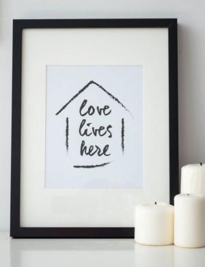 Printable Quote Art // home print home by MyLittlestPrintShop, $5.00 # ...