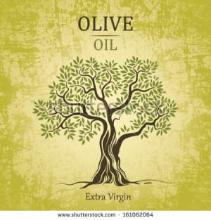 stock-vector-olive-tree-on-vintage-paper-olive-oil-vector-olive-tree ...
