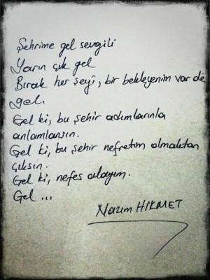 , Poems Quotes, 51Yılında, Nazım Hikmet, Nazımhikmet, Nazim ...