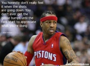 ... appreciate what you're doing - Allen Iverson Quotes - StatusMind.com