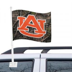 Auburn Tigers Camo Car Flag