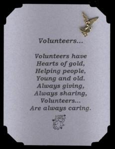 Volunteer Pin & Poem