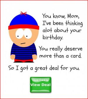 Funny Birthday Card for Mom